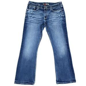 BKE Wendi 31 x 29.5 Bootcut Distressed Jeans